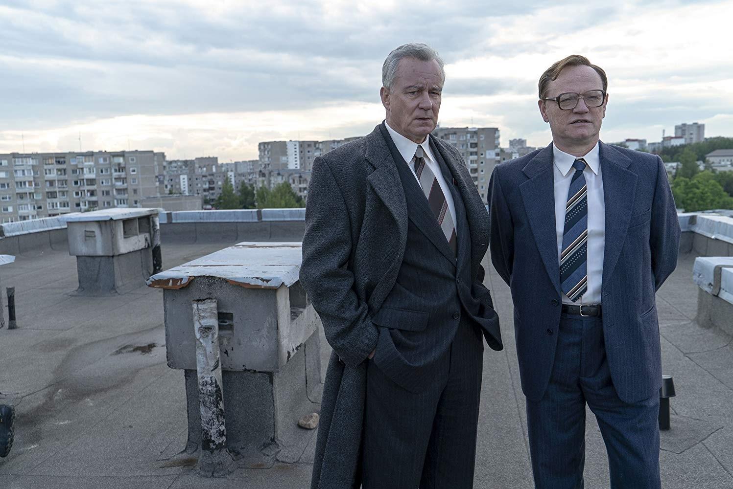Boris Šerbina (Stellan Skarsgård) i Valerij Legasov (Jared Harris) / izvor: IMDb